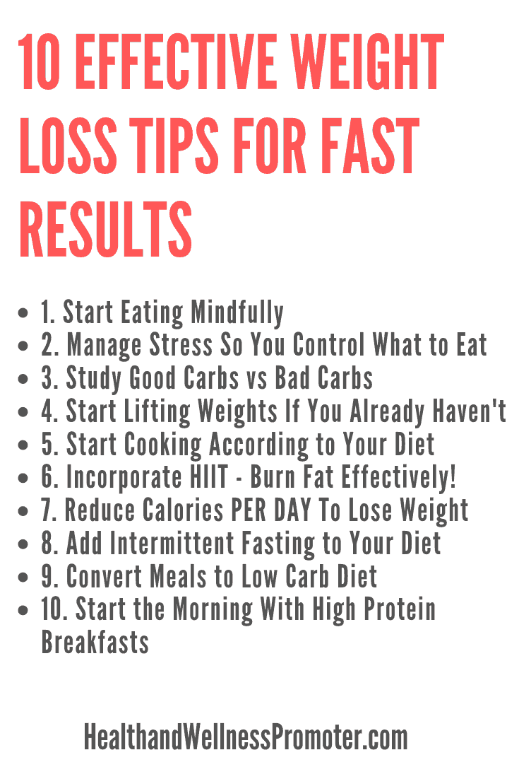 10 Effective Weight Loss Tips for Fast Results