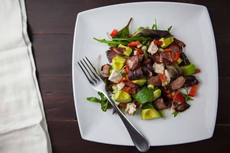 Bacon, Avocado and Goat-Cheese Salad